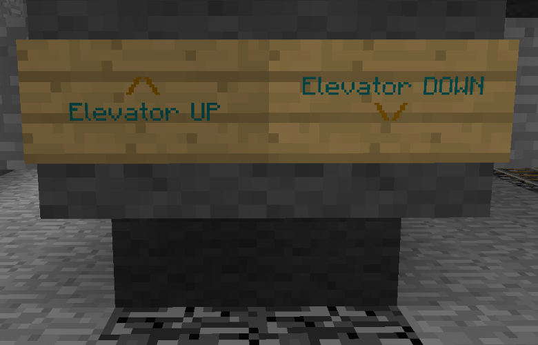 Super simple vanilla minecraft sign elevators